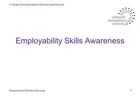 Employability Skills Awareness