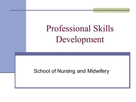 Professional Skills Development