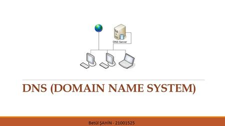 DNS (DOMAIN NAME SYSTEM) Betül ŞAHİN - 21001525. Real Life Analogy: Telephone Example Telephone connection Source: Child Destination: Dad Information.