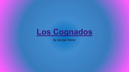 Los Cognados By George Mazur. Cognate One - Academy In English, this cognate is academy. In Spanish, it is la academia. An academy is a place of studying.