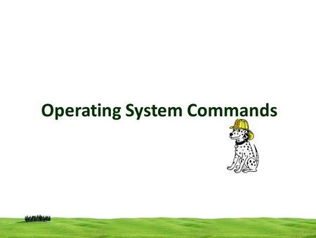 Operating System Commands. Commands External / internal command In MS-DOS there are two types of commands. An Internal command, which is a command embedded.