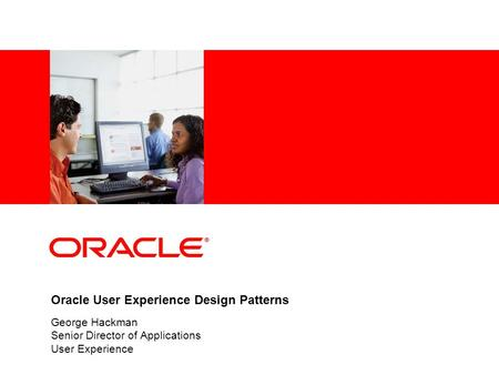 Oracle User Experience Design Patterns