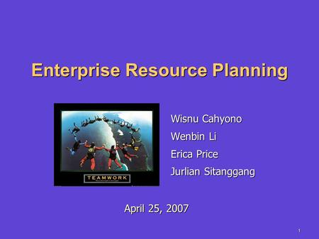 Enterprise <strong>Resource</strong> Planning