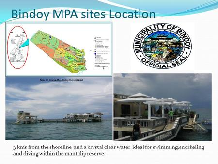 Bindoy MPA sites Location 3 kms from the shoreline and a crystal clear water ideal for swimming,snorkeling and diving within the mantalip reserve.