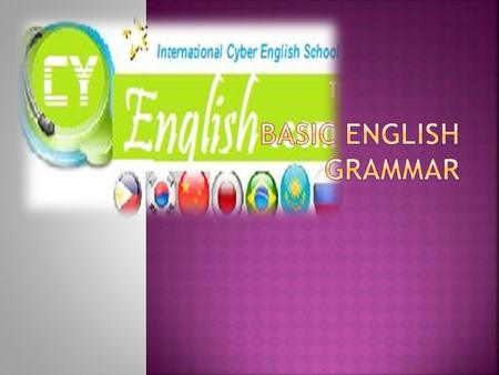 Basic English Grammar.