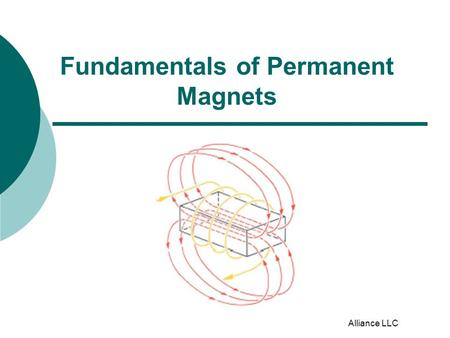 Alliance LLC Fundamentals of Permanent Magnets. Magnetic Orientation  Isotropic Anisotropic (non-oriented) (oriented) Magnetic strength is the same.