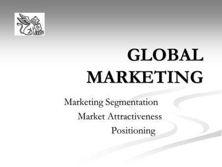 Marketing Segmentation Market Attractiveness Positioning