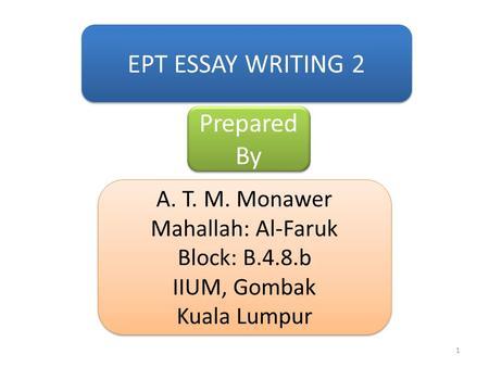 Essay on present system of examination
