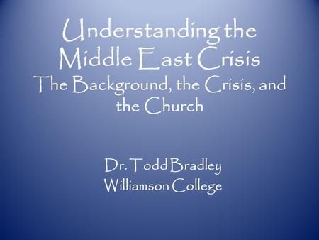 Dr. Todd Bradley Williamson College