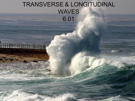 TRANSVERSE & LONGITUDINAL WAVES 6.01. OBJECTIVES To understand the meaning of wave motion To distinguish between longitudinal and transverse waves To.