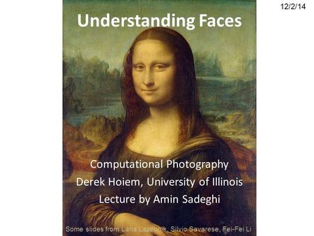 Understanding Faces Computational Photography