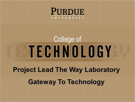 Project Lead The Way Laboratory Gateway To Technology.