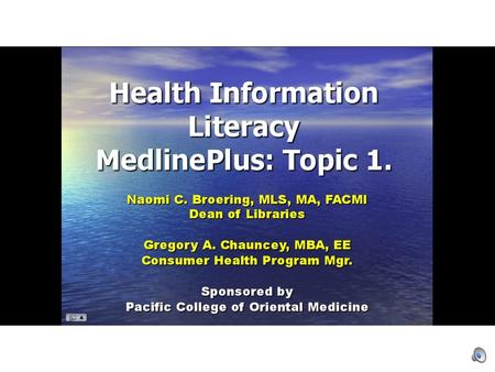 Home Page (Bottom) Updated Information Health Topics A to Z.