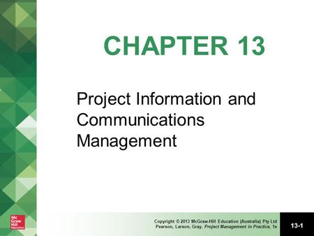 Project Information and Communications Management