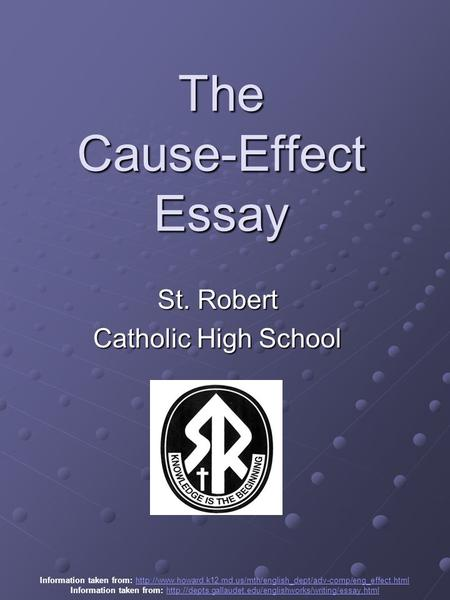 cause and effect essay on high school dropouts [essay] causes for the high college or university dropout rate learning method in college or university is so different from that in high school.