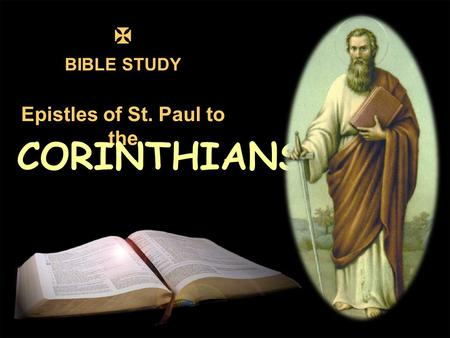 BIBLE STUDY Epistles of St. Paul to the 1 CORINTHIANS.