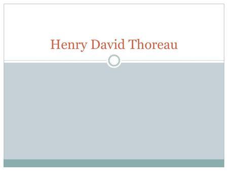 Henry david thoreau walden literary analysis