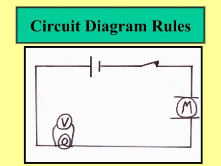 Circuit Diagram Rules. 1.Always use a ruler. 2.Be neat and make your symbols clear and clean.