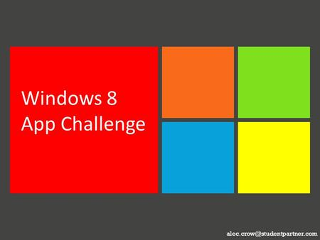 Windows 8 App Challenge.