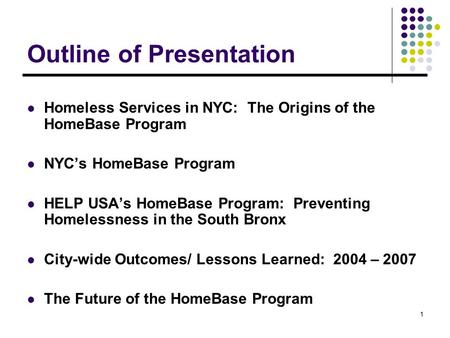 Homelessness in nyc essay outline