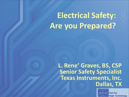 Electrical Safety: Are you Prepared?