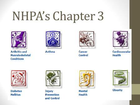 NHPA's Chapter 3. National Health Priority Areas A collaborative initiative endorsed by the Commonwealth and all state and territory governments, which.