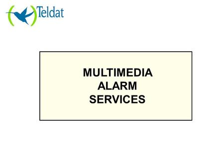 MULTIMEDIA ALARM SERVICES. The current Alarms Business Model.