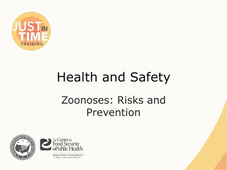 Health and Safety Zoonoses: Risks and Prevention.
