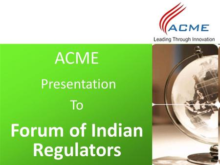 Forum of Indian Regulators