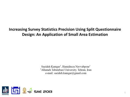 Increasing Survey Statistics Precision Using Split Questionnaire Design: An Application of Small Area Estimation 1.