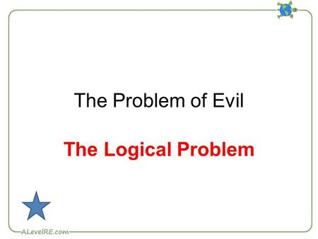 The Problem of Evil The Logical Problem. Epicurus Greek philosopher who founded the Epicurean School of philosophy in Athens. Epicurus' formulation of.