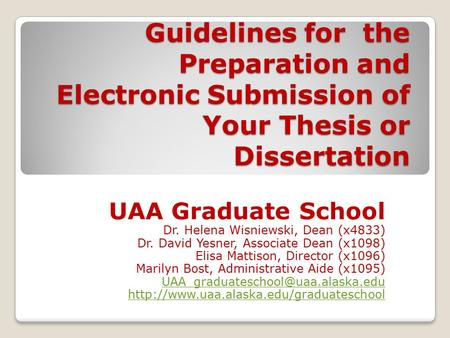 Online Dissertation And Thesis Handbook