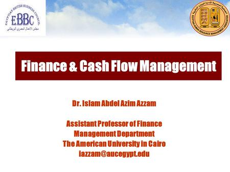 Finance & Cash Flow Management