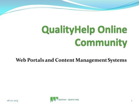 Web Portals and Content Management Systems 06-02-20131.