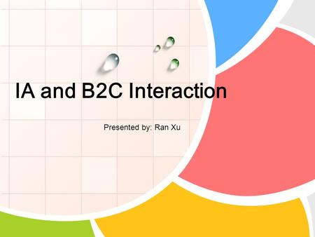 IA and B2C Interaction Presented by: Ran Xu. Contents What is B2C Where the interaction exists CRM Common Forms of Interaction References and Q&A.