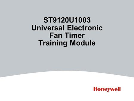 ST9120U1003 Universal Electronic Fan Timer Training Module