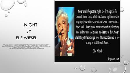 an analysis of the holocaust in night by elie wiesel Use these night chapter summaries to review for quizzes or to preview each chapter this summary and analysis of night by elie wiesel is intended as a study guide, not as a substitute for reading the book.