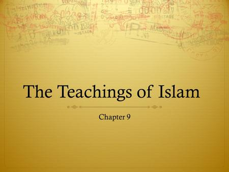 The Teachings of Islam Chapter 9.