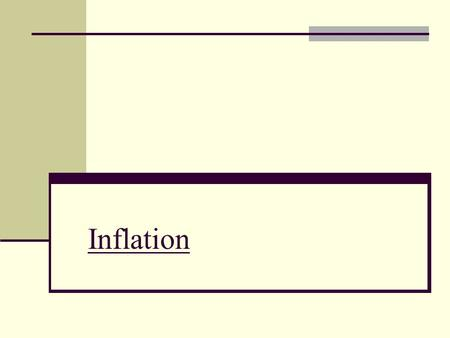 Inflation. General terms DEFLATION = opposite to inflation, occurs when the general level of prices is falling DISINFLATION = describe the process of.