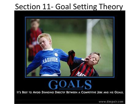 Section 11- Goal Setting Theory