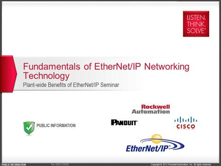 Fundamentals of EtherNet/<strong>IP</strong> Networking Technology