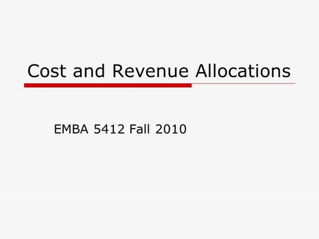 managerial accounting service cost allocations Accounting - managerial accounting:  cost finding,  most large manufacturing companies and many service companies have launched programs of total.