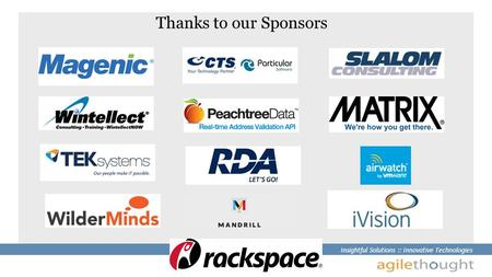 Insightful Solutions :: Innovative Technologies Thanks to our Sponsors.