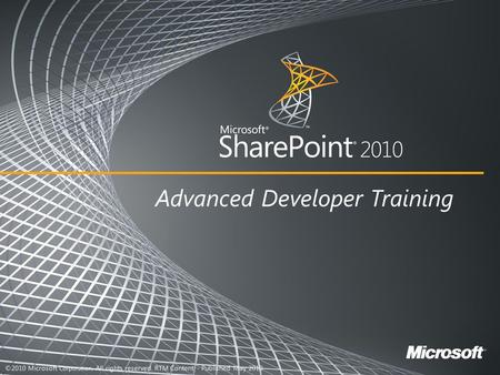 Application life cycle in SharePoint 2010.