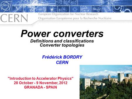 <strong>Power</strong> converters Definitions and classifications Converter topologies