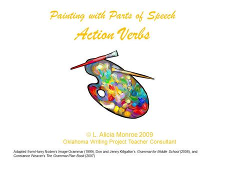 Painting with Parts of Speech Action Verbs