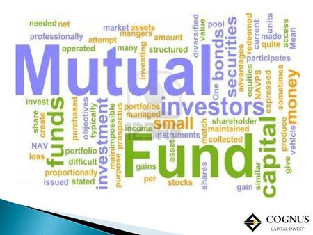  A mutual fund is a pool of money from numerous investors who wish to save or make money just like you. Its a vehicle for investing in stocks and bonds.