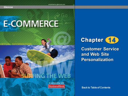 Customer Service and Web Site Personalization Back to Table of Contents.