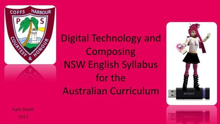 Digital Technology and Composing NSW English Syllabus for the Australian Curriculum Kate Booth 2013.