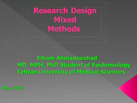 Dr Elham Ahmadnezhad is a researcher at the Department of Disaster and Emergency Management, National institute of health research, Tehran University.